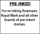 Ink for Pre-Inked Stamps and Daters