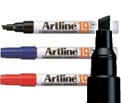 Artline EK-19 Industrial Marker - Chisel Tip