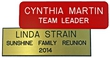 "NBN13 - Standard Engraved Name Badge Text Only 1""x3"" (O.M.)"