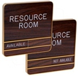 """WCMC661 - Architectural Aluminum Changeable Message Wall Sign Engraved 6""""x6"""" (O.M.)"""